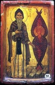 220px-St_Macarius_the_Great_with_Cherub
