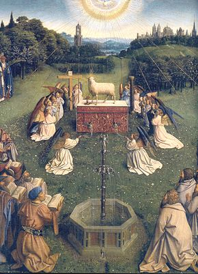 Ghent_Altarpiece_D_-_Adoration_of_the_Lamb_2